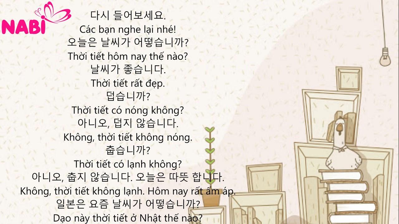 🦋[Mẫu hội thoại giao tiếp tiếng hàn căn bản Hàn - Việt] PHẦN 1🦋 Bài 6🦋