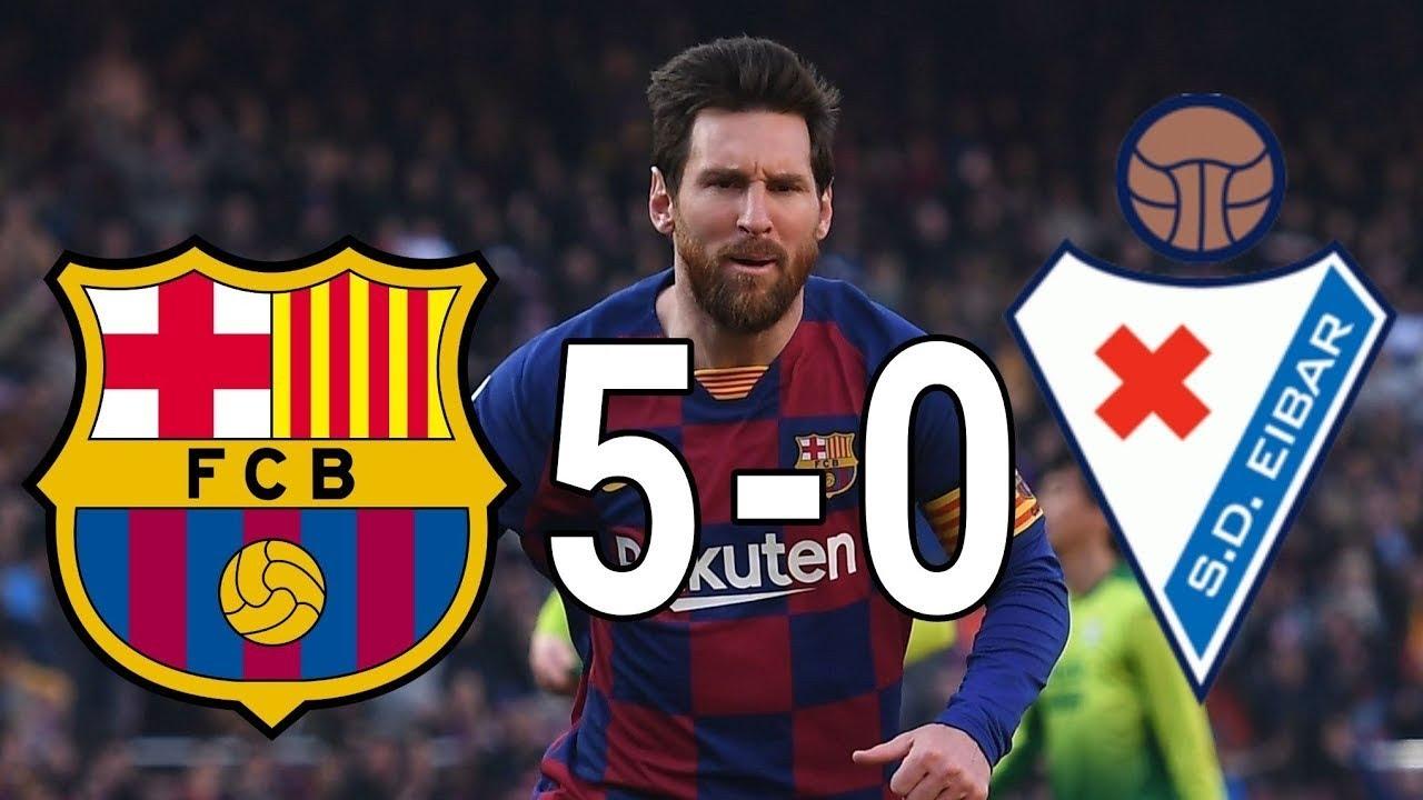 FC Barcelona vs Eibar 5-0 All Goals & Highlights - Resumen ...