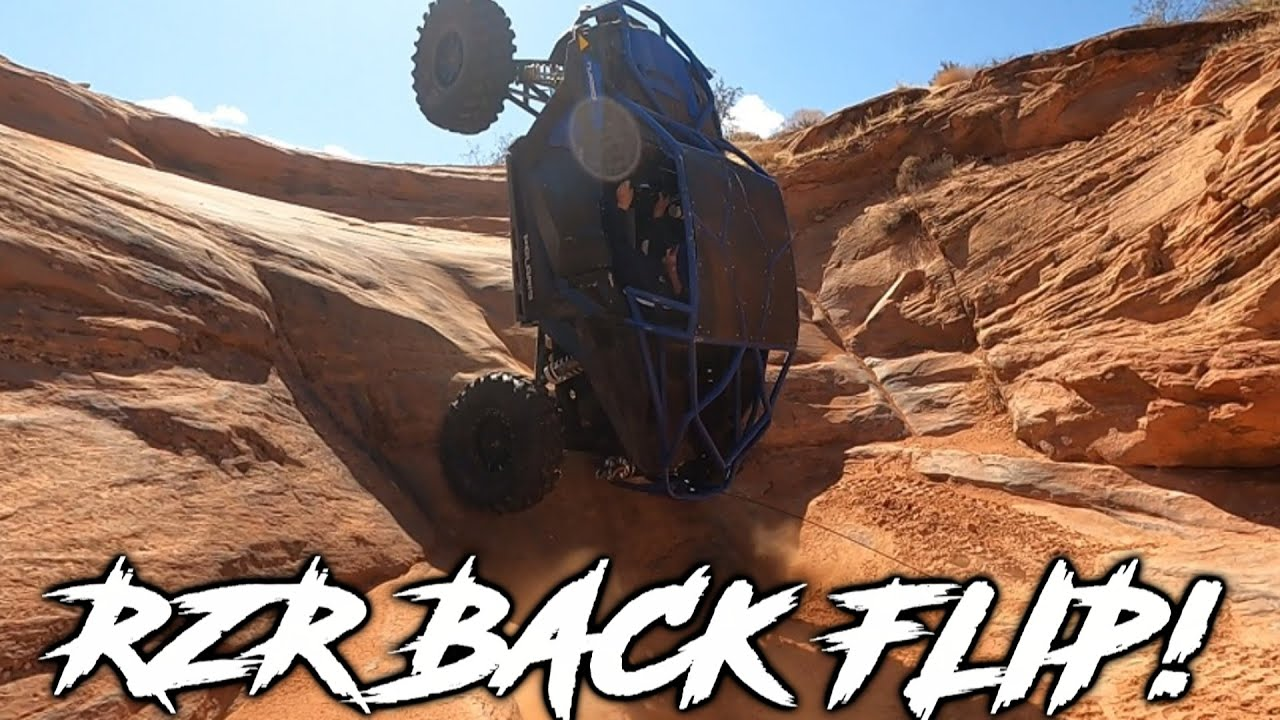 RZR BACKFLIPS at Sand Hollow! | Hitting Buggy Trails with RZR's, KRX, & Canam X3's