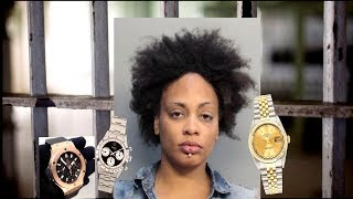 Florida Woman Steals Man Rolex Watches & Hide Them In A Secret Compartment.