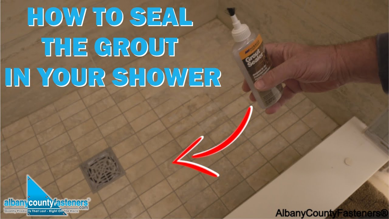 How to Seal Grout to Protect Your Shower Floor | DIY With Bob