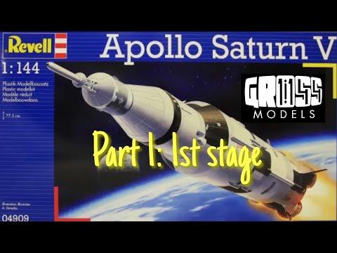 Revell 1:144 Saturn V Rocket. Part 1: 1st Stage
