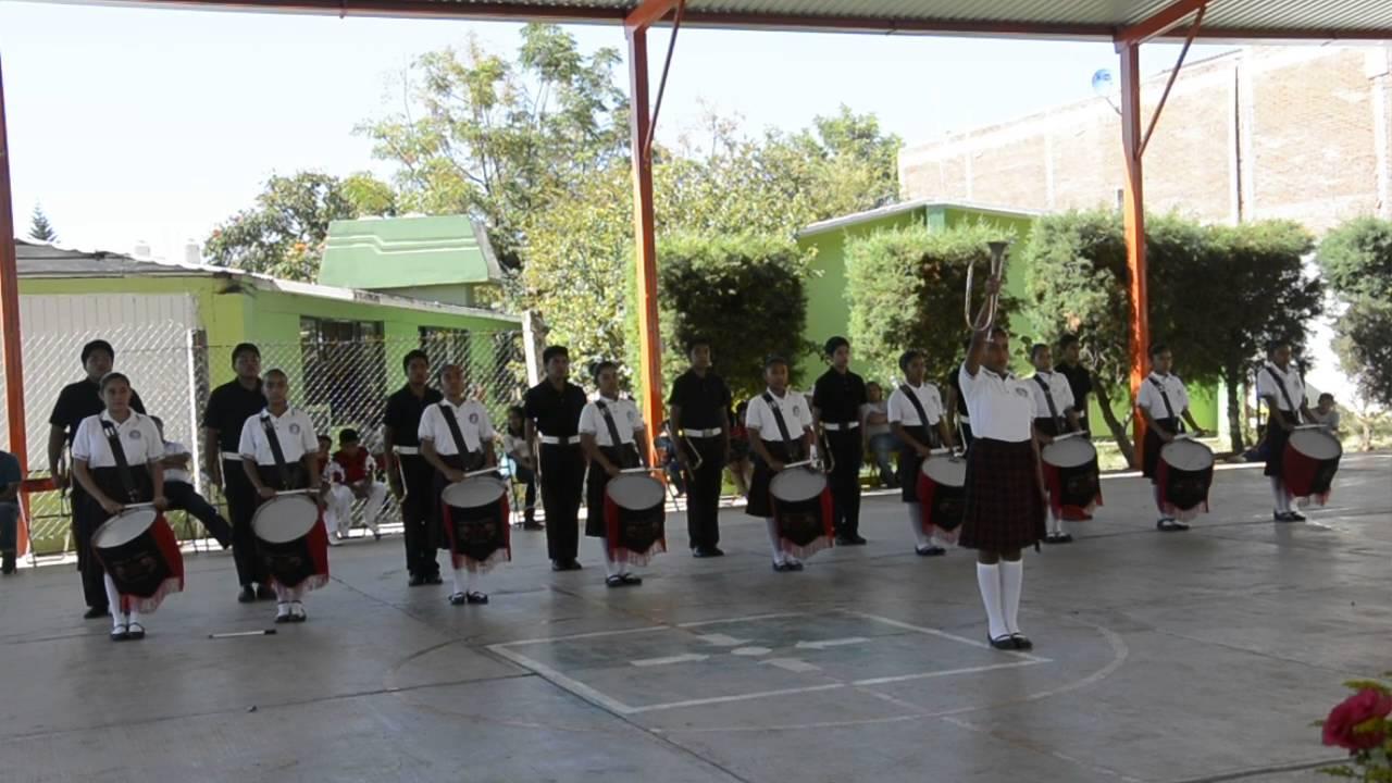Banda de guerra secundaria t cnica 139 oaxaca youtube for Cct de la escuela