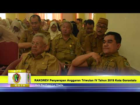 Rakorev Penyerapan Anggaran Triwulan IV T.A 2019 ,Program Kegiatan T.A 2020 di Pemkot Gorontalo