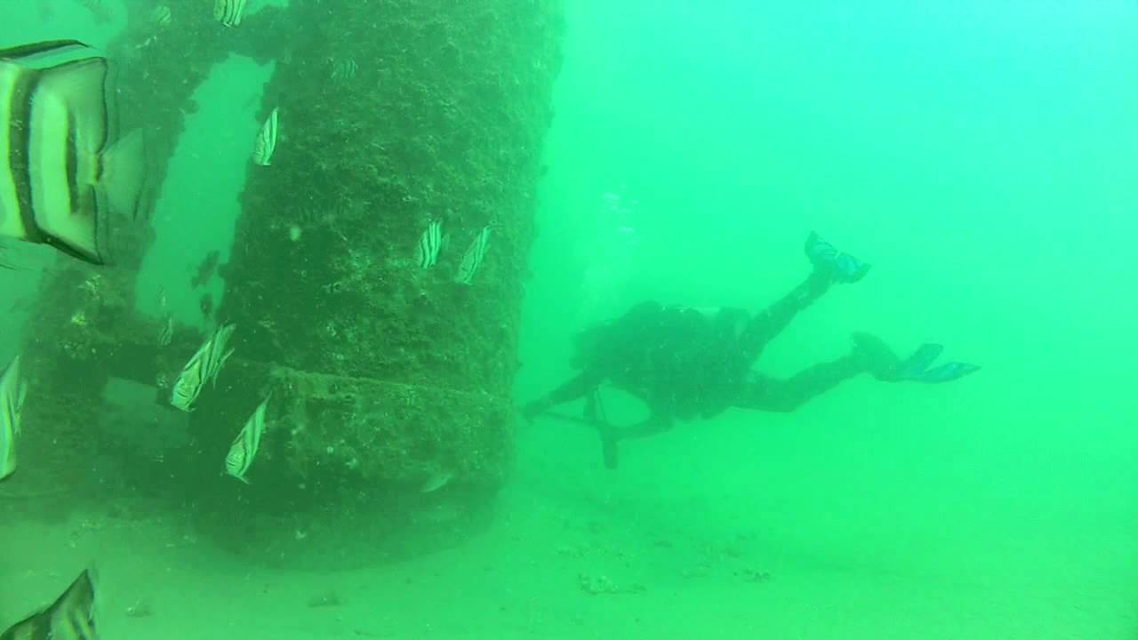 Scuba Diving Mustang Island Oil Rigs Youtube