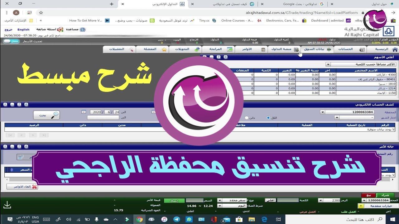 شرح مبسط لمنصة الراجحي المالية لتداول الاسهم السعودية وإدارة حسابك الاستثماري Youtube