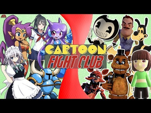 Indie Game Free for All! (Bendy vs Undertale vs FNAF, Yandere, Hello Neighbor) | CARTOON FIGHT CLUB