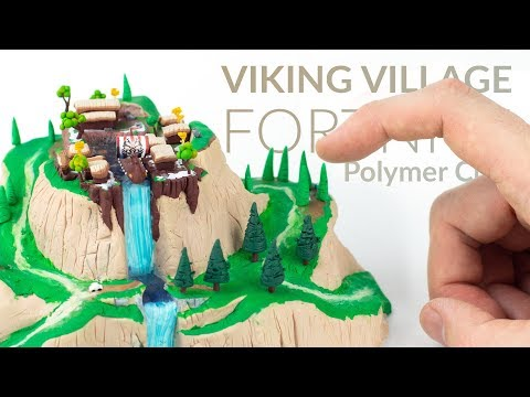 Viking Village (Fortnite Battle Royale) – Polymer Clay Tutorial