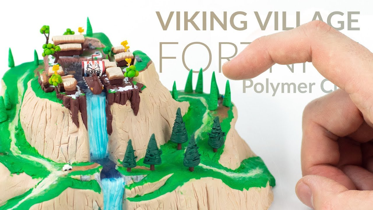 Polymer Clay Christmas Village.Viking Village Fortnite Battle Royale Polymer Clay Tutorial