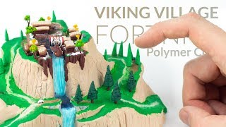Viking Village (Fortnite Battle Royale) - Polymer Clay Tutorial
