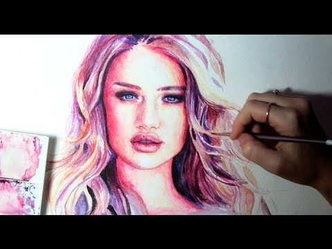 Speed Painting : Victoria's Secret Model Rosie Huntington-Whiteley