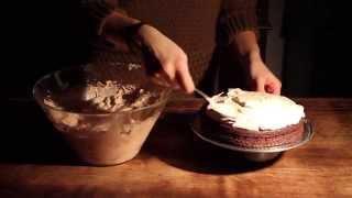 Chocolate Mascarpone Cake With Strawberries