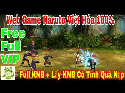 Web Game Private Naruto Việt Hóa 100% | Free Full VIP10 - Full KNB + Lấy KNB Có Tính Quà Nạp