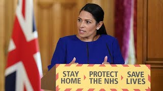 Watch again: Priti Patel leads government daily briefing as UK coronavirus death toll passes 20,000
