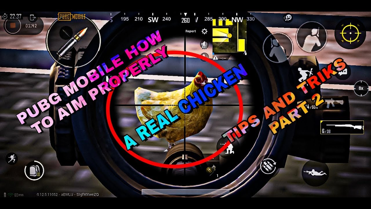 How to aim properly : like a aim bot : finding a chicken : PUBG Mobile tips and tricks : part 2