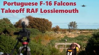 Portuguese F 16 pair extremely short finals runway 23 RAF Lossiemouth JW16 2 4K UHD