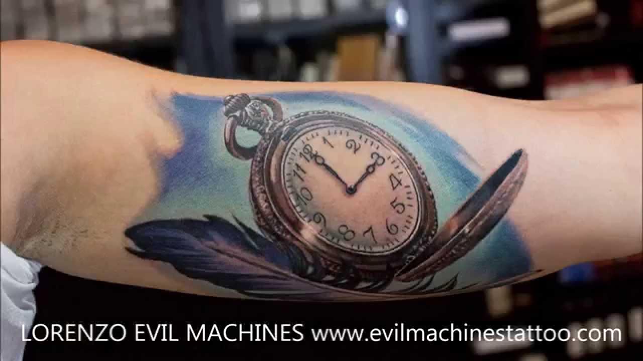 Realistic pocket watch tattoo  Pocket Watch Realistic Tattoo - Lorenzo EM - YouTube