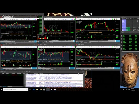 """4/10/18  """"LIVE"""" OPEN SCREEN TRADING - U.S. Futures Up on Comments From Chinese President Xi"""