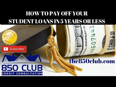 How To Pay Off Your Student Loans In 5 Years Or Less Through Real Estate - 850 Club Consultation