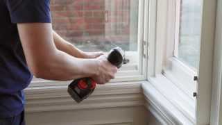 How to install window shutters in a box bay window