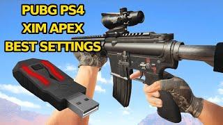 Xim Apex PS4 - Settings for PUBG