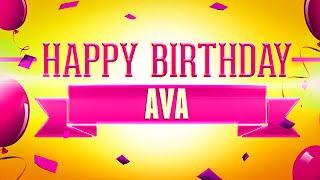 Happy Birthday Ava