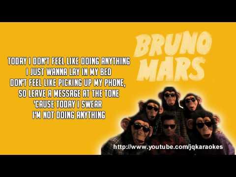Bruno Mars - The Lazy Song [Karaoke/Instrumental]