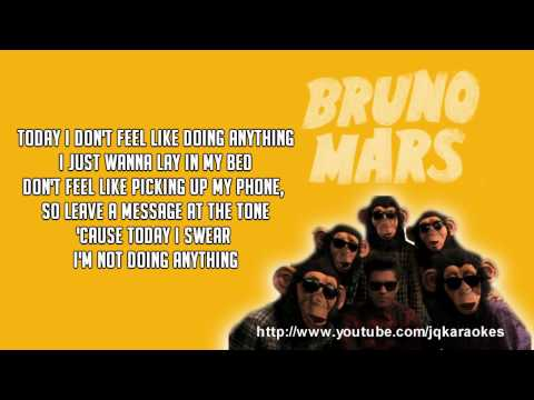 Bruno Mars - The Lazy Song [Karaoke/Instrumental]