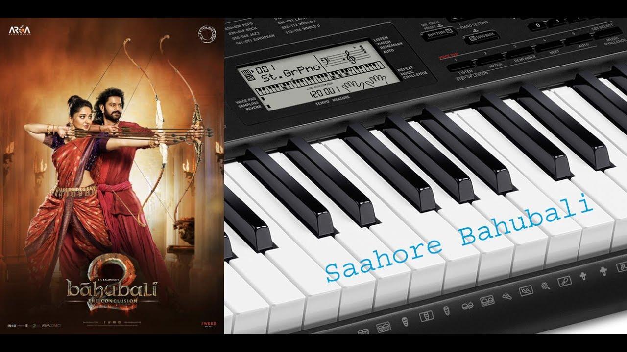 Bahubali 2 title song(sahore bahubali) on piano
