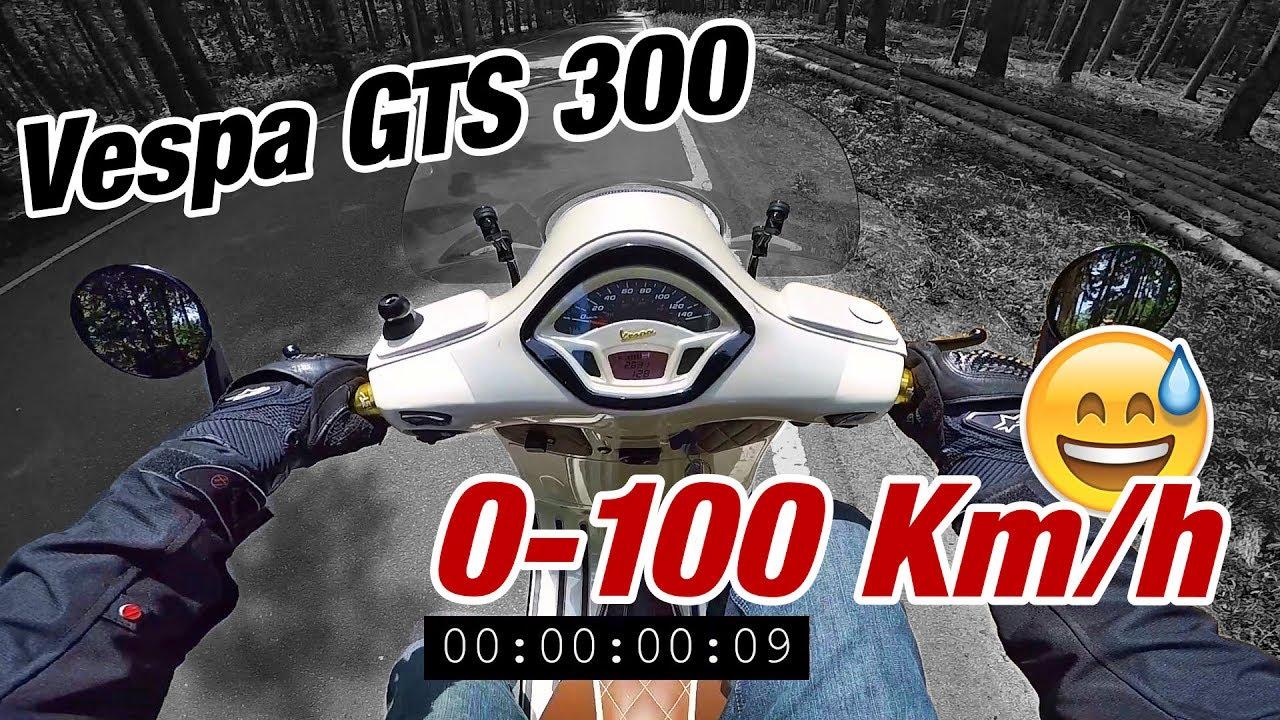 vespa 300 gts 0-100