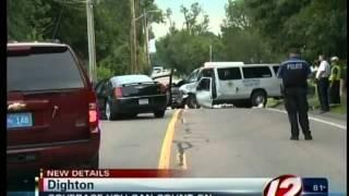 Car collision in Dighton MA