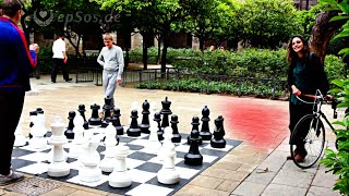 Beautiful Chess Game Location in Barcelona.