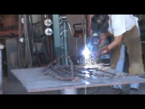 How to Make a Sculpture out of Railroad Spikes - Kevin Caron