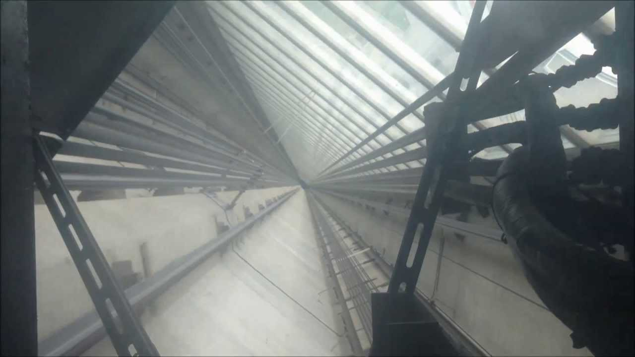 CN Tower Glass Floor Elevator Going Up
