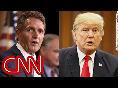 Flake caught on hot mic talking about Trump