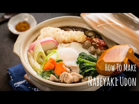 Nabeyaki Udon Video Recipe