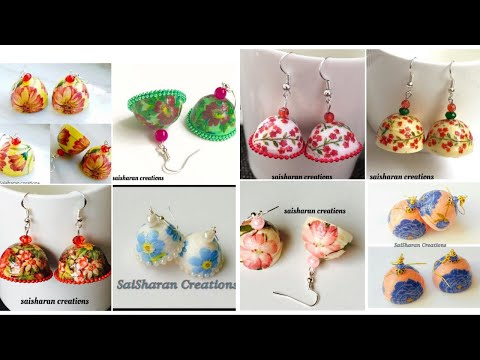 Decoupage paper jhumka collection//paper quilling jhumkas //Handmade paper decoupage earrings