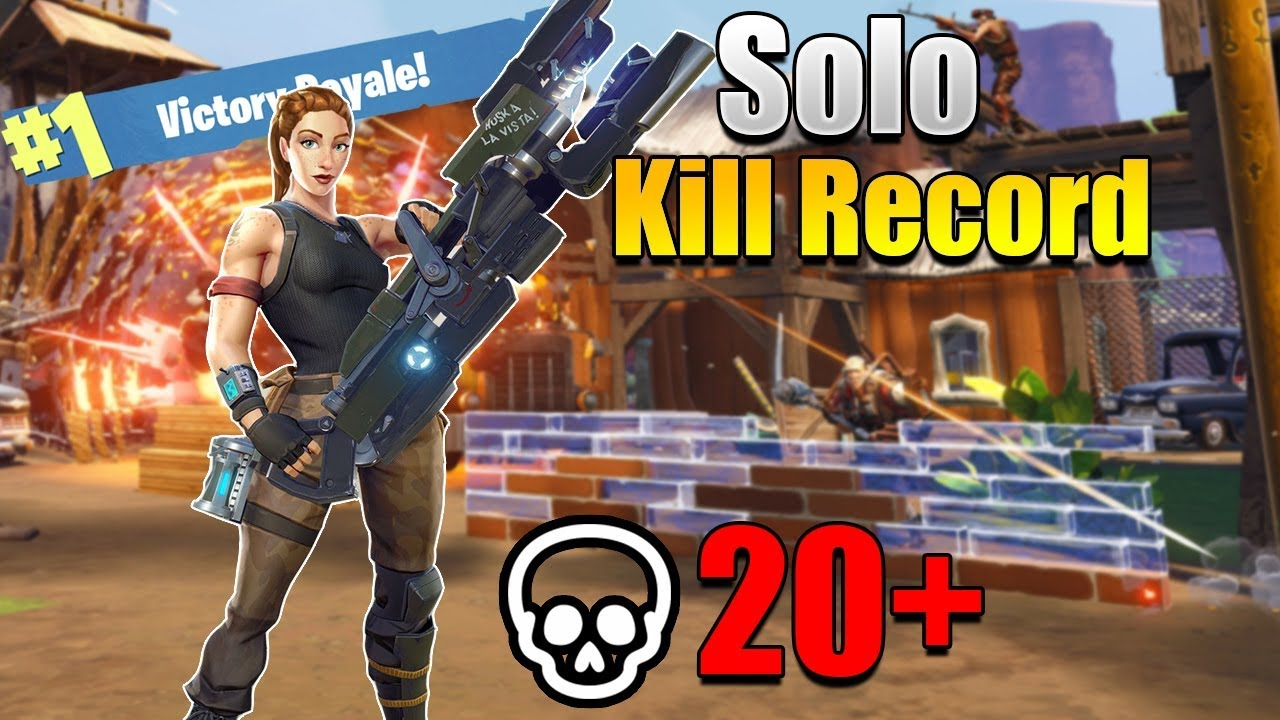 Fortnite most kills in a solo game - YouTube