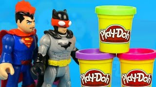 Play Doh Superhero Costume Party with Imaginext Batman Toys and Play Doh Avengers Toys by KidCity