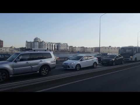Пробка из-за ПМЭФ окола Площади Ленина СПБ