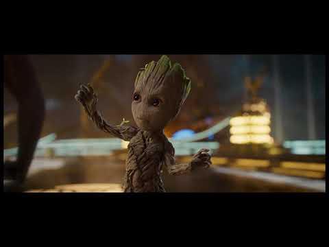 Baby Groot Dançando (Dublado) - (Electric Light Orchestra - Mr. Blue Sky)
