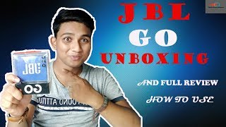 🔥🔥JBL GO Bluetooth Speaker Unboxing & full Review , How to use..in Bangla