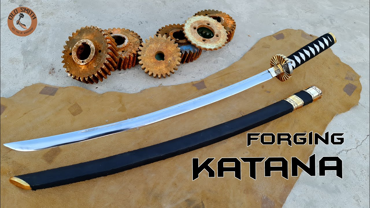 Download Forging Katana Sword out of Rusty Engine gear