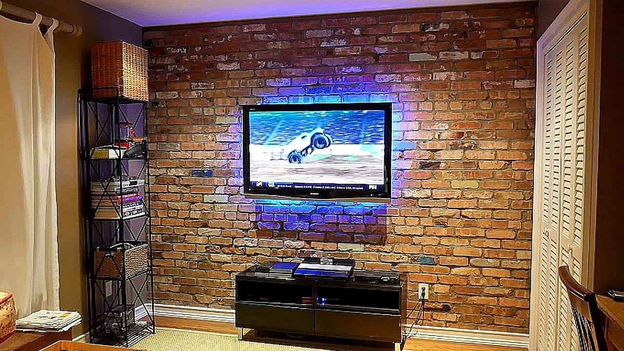 How To Build An Exposed Brick Veneer On An Interior Wall   YouTube
