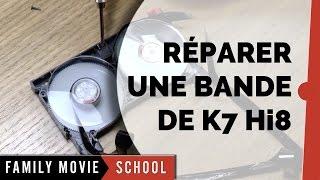 Tutoriel Comment Réparer Bande Cassette K7 Vidéo8 - Hi8 | Family Movie Paris