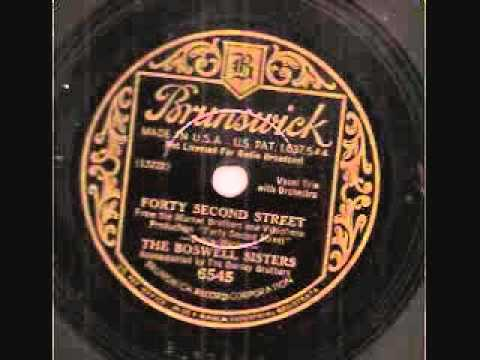 Boswell Sisters- Brunswick 6545 Forty Second Street [1933] 78 RPM