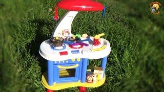 Музыкальная кухня. Детский игровой набор / Сhildren's kitchen play set, cooking(Кухня ZB-6006C для детей с духовкой, плитой со светом и звуками, музыкальной книгой рецептов и множеством аксес..., 2015-05-22T15:04:04.000Z)