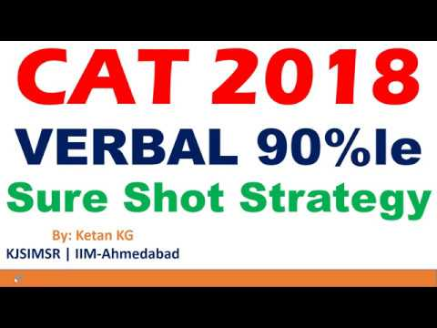 CAT 2018 | Verbal Ability | 90 Percentile Sure Shot Strategy