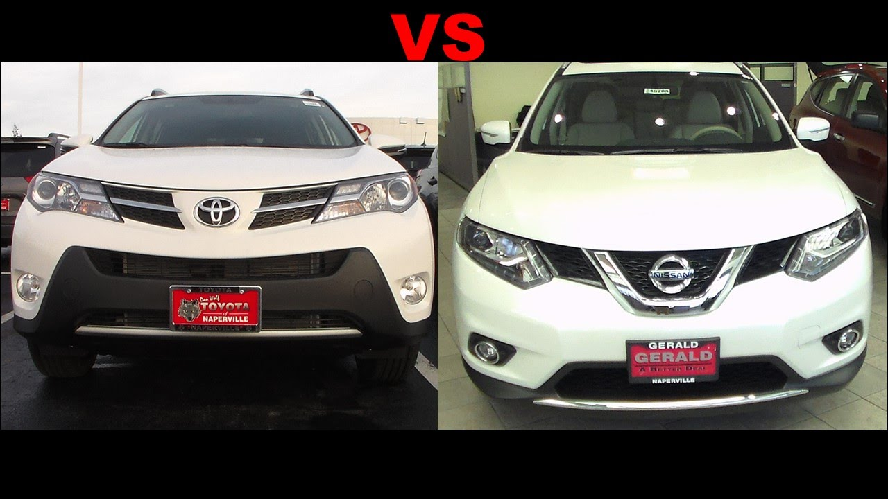 2015 nissan rogue vs 2015 toyota rav4 youtube. Black Bedroom Furniture Sets. Home Design Ideas