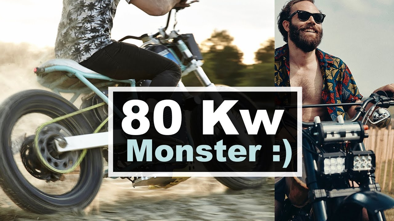 80 Kw electric motorcycle powered by Drone military motor and built by  Jambon-Beurre Motorcycle